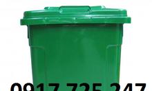 Thùng rác nhựa công cộng 90 lít nắp kín