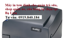 Chuyên bán máy in tem trà sữa, tem mã vạch giá rẻ tại Bạc Liêu