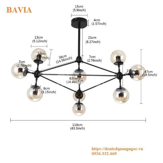 Đèn thả trần phong cách châu âu 10 bóng ML-DT1012