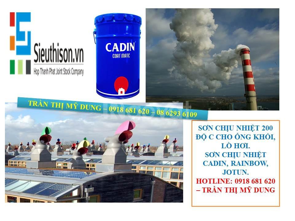 Cần tìm sơn chịu nhiệt Cadin 600 độ C màu bạc cho ống khói, lò hơi. (ảnh 1)