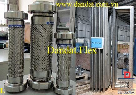 Khớp nối mềm 3 lớp lưới inox 304 (ống mềm chịu áp cao)