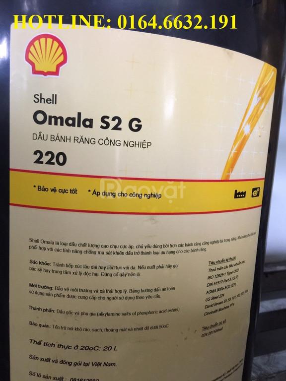 Dầu bánh răng Shell Omala S2 G 220 xô 20L