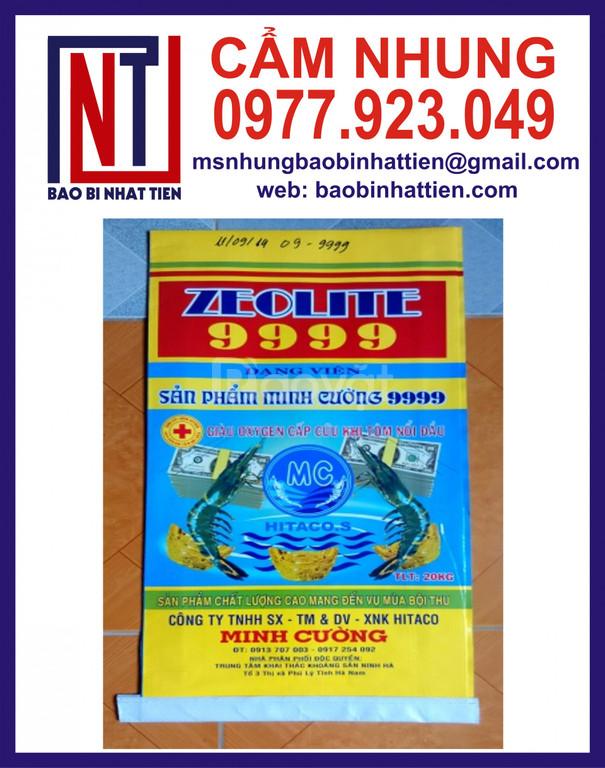 Bao PP dệt ghép màng metalize đựng thuốc thủy sản (ảnh 6)