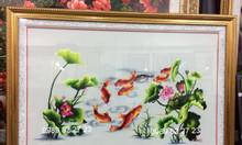 Tranh thêu cá chép hoa sen mua ở đâu tại tpHCM