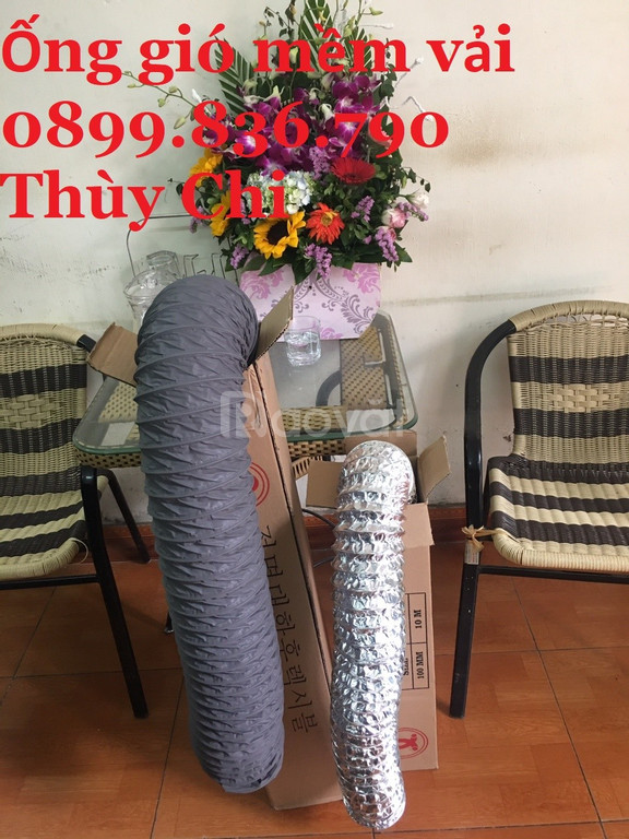 Ống gió mềm vải có lõi thép giá rẻ Việt Nam