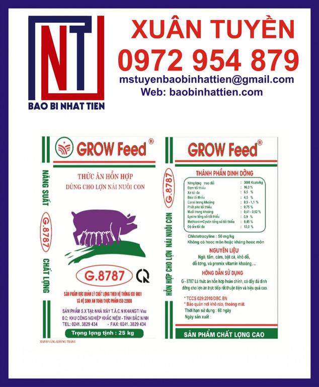 Bao bì đựng thức ăn chăn nuôi 25kg