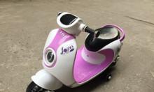 Xe máy điện cho bé gái Vespa LWD-2017 màu tím đẹp