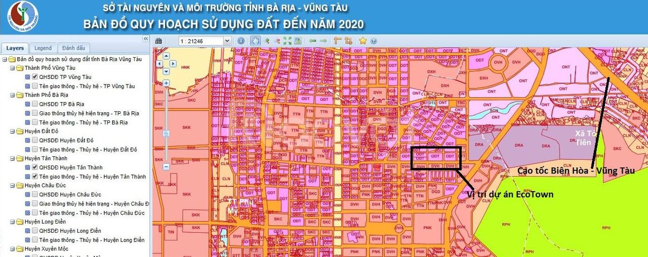 Đất nền dự án Ecotown Phý Mỹ, thị xã Phú Mỹ chỉ 500tr/nền/100m2