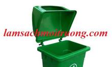 Thùng rác nhựa 90L, thùng rác công cộng 90L, thùng rác nhựa composite