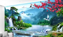 Tranh gạch men 3d phong cảnh trang trí cao cấp