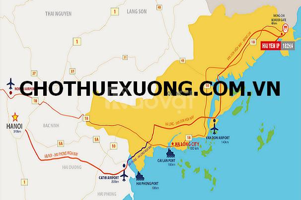 Bán gấp đất khu công nghiệp Hải Yên Quảng Ninh DT 15000m2