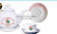 In bộ ấm trà quà tặng, in gốm sứ tại Đà Nẵng