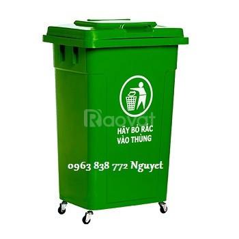 Thùng rác 60L - thùng rác công cộng 90L.  (ảnh 4)