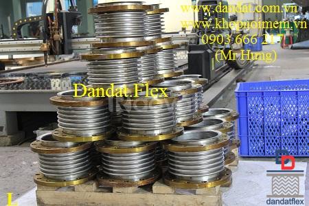 Ống nối mềm chống rung inox, khớp nối chống rung inox mặt bích