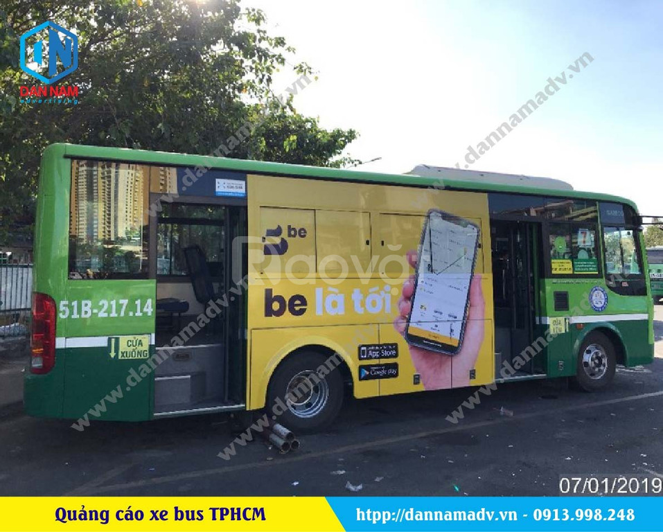 Quảng cáo trên xe bus giá rẻ quảng cáo trên taxi giá rẻ