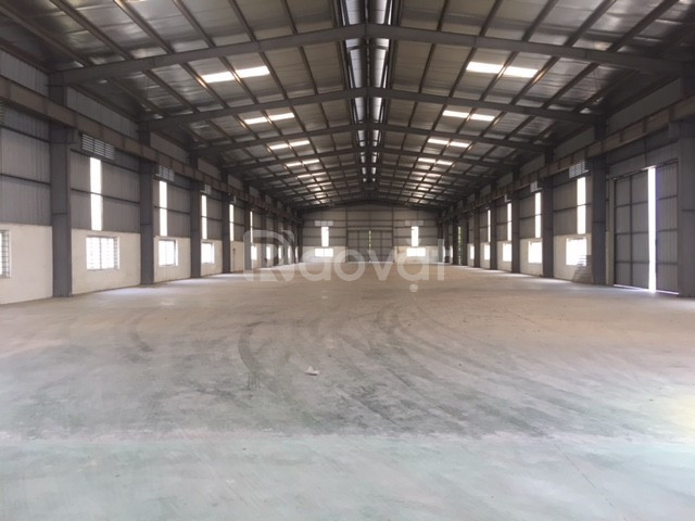 Cho thuê kho xưởng DT 3000m2 tại Nhân Hòa, Mỹ Hào, Hưng Yên.