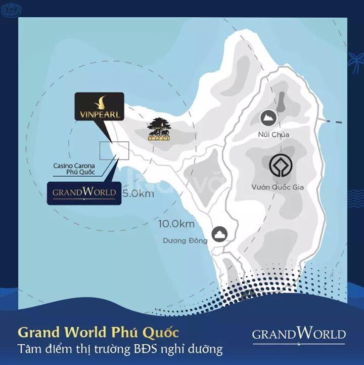 Shop Grand World Phú Quốc căn đẹp thị trường