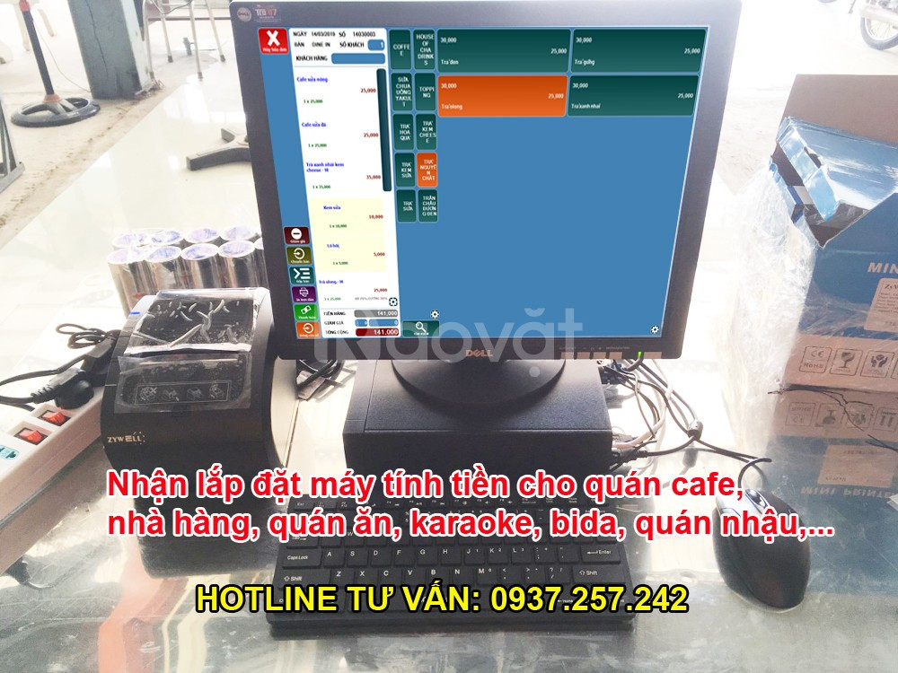 Phần mềm tính tiền cho quán cafe tại TPHCM