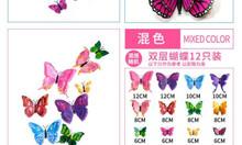 Đinh 3 chân treo khung , bướm 3d dán trang trí