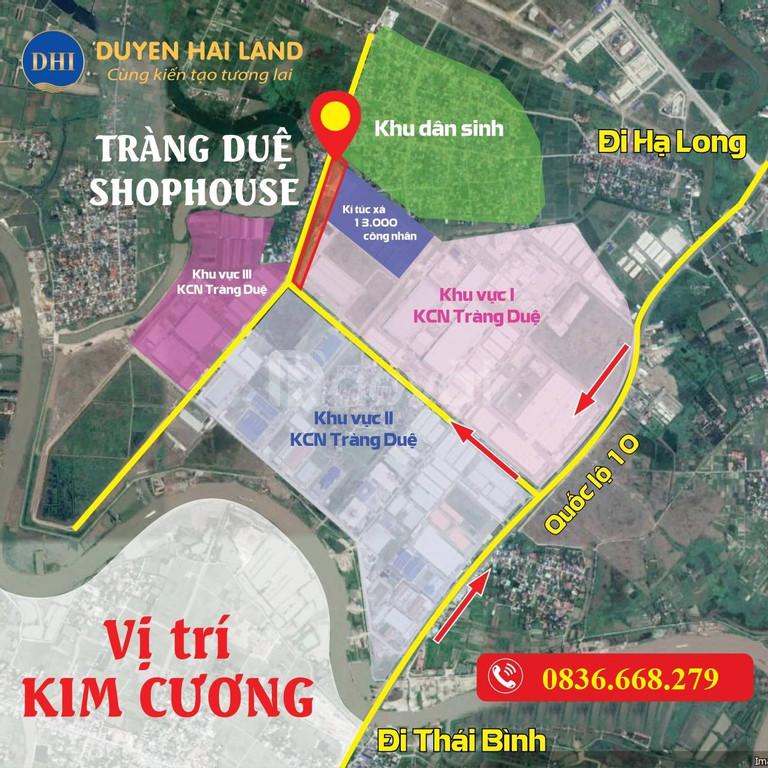 Bán đất kinh doanh vị trị trung tâm khu công nghiệp Tràng Duệ An Dương