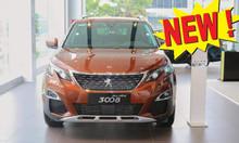 Bán xe SUV gầm cao Peugeot 3008 1.6L turbo new 2019-màu cam-KM giá tốt