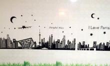 Decal dán tường trang trí phòng ngủ quán cà phê, trà sữa HC Bình Dương