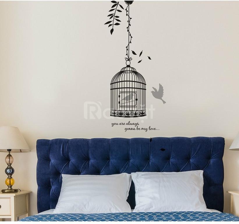 Decal dán tường trang trí nhà ở, phòng ngủ, quán cà phê, trà sữa (ảnh 1)