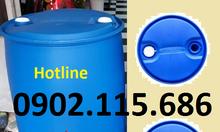 Thùng phuy nhựa 220L nắp kín,thùng phuy nhựa làm bè,đựng hóa chất