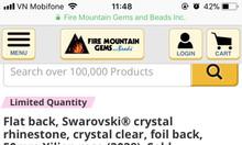 Phụ kiện làm đẹp hạt pha lê Swarovski Crystal 25mm