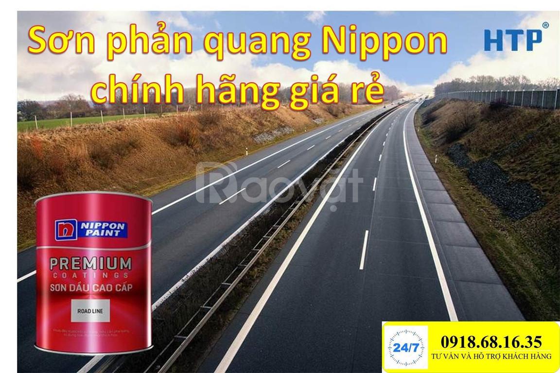Đại lý bán sơn Nippon Roadline phản quang màu đen