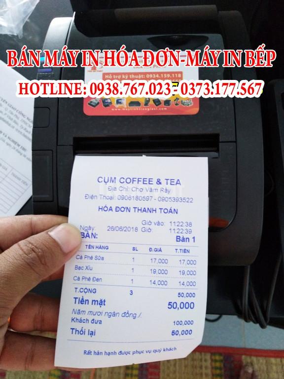 Máy in bill tính tiền cho quán café – quán ăn tại Cần Thơ