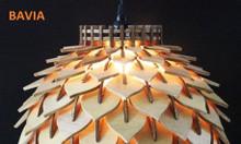 Đèn gỗ thả trần cách sen LW1802