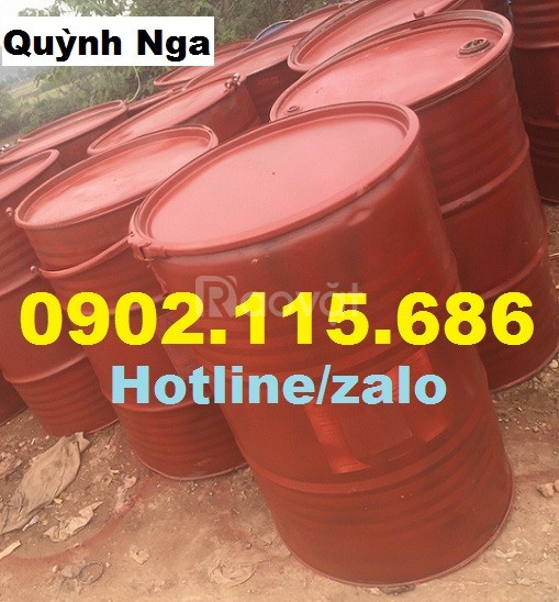 Thùng phuy sắt 220l nắp mở, thùng phuy sắt đựng dầu cá