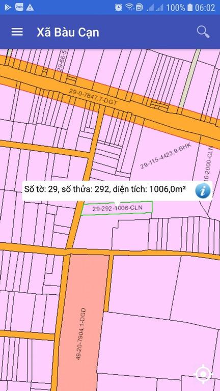 Cần bán 1000 m2 sào đất ONT tại xã Bàu Cạn, Long Thành