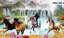 Tranh ngựa 3d phong thủy
