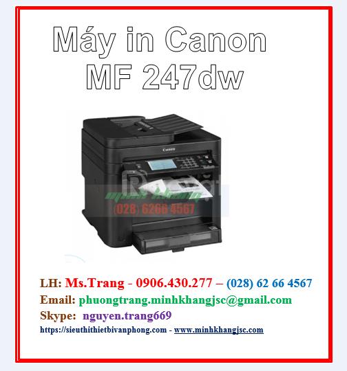 Máy in đa chức năng Canon 247DW giá siêu tốt
