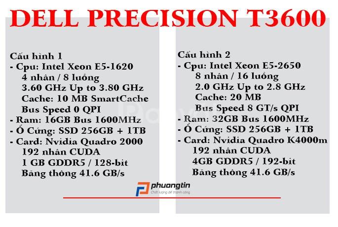 Máy trạm Dell Precision T3600 Xeon E5-1620/16GB/SSD 120GB