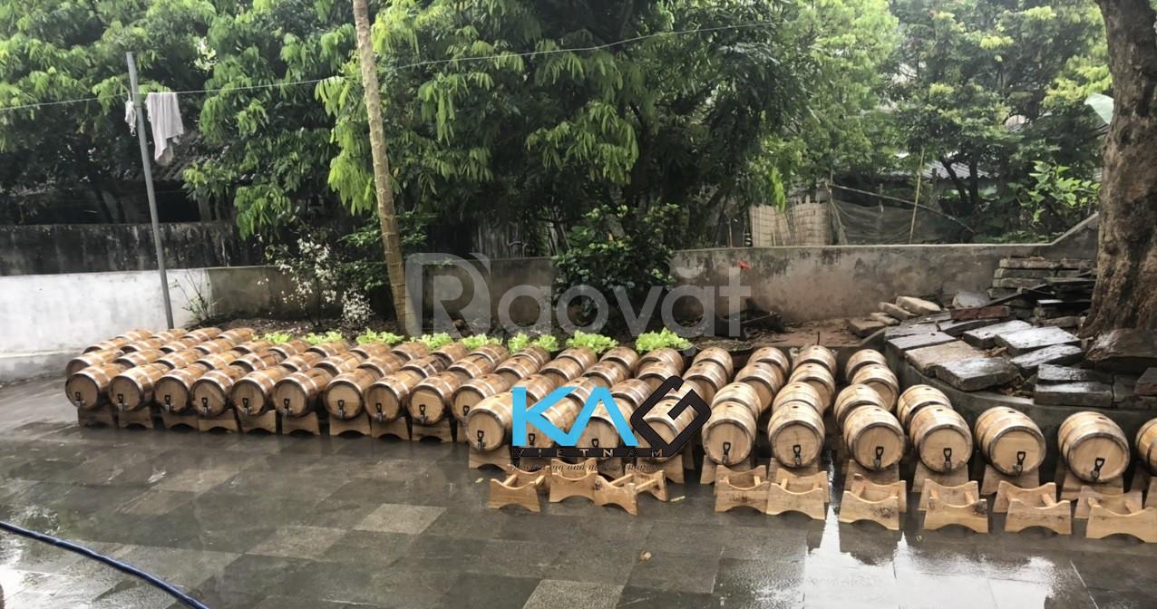 Khám phá đặc sản rượu gạo ủ thùng gỗ sồi KAG