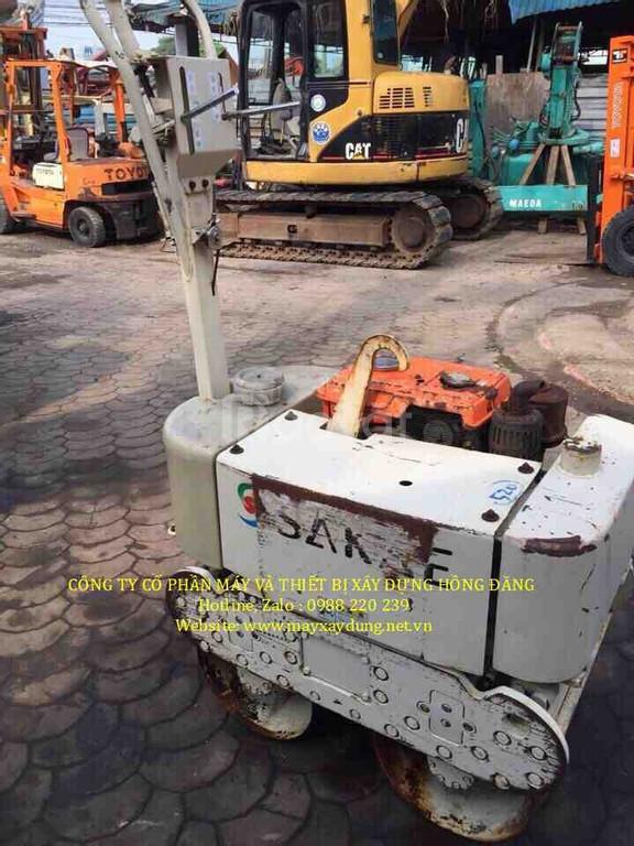 Bán máy lu rung dắt tay sakai 650kg đời cao đề nổ, rung điện