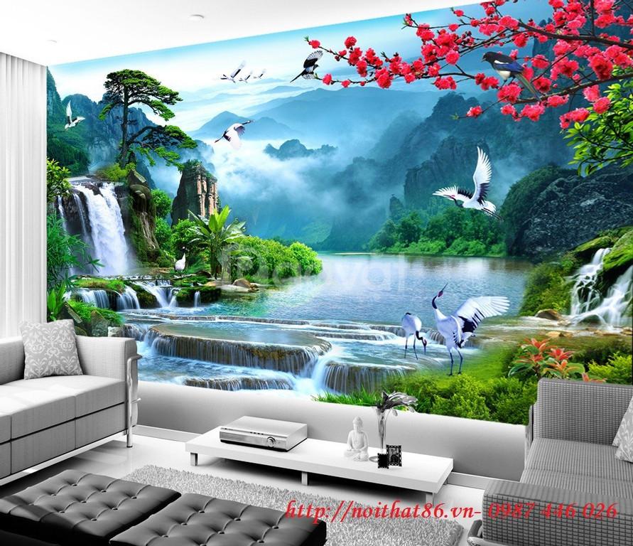 Gạch tranh phòng khách 3d trang trí