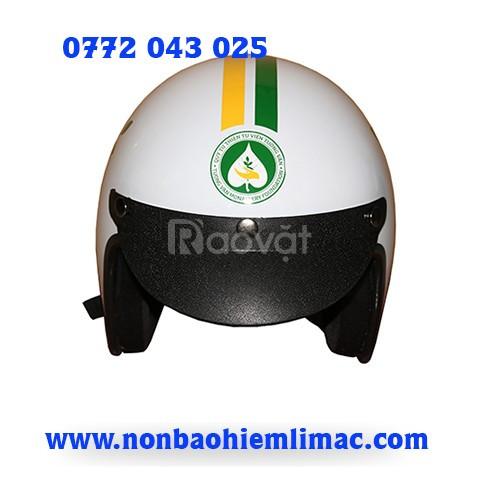 Xưởng sản xuất mũ bảo hiểm quà tặng in logo in mũ bảo hiểm