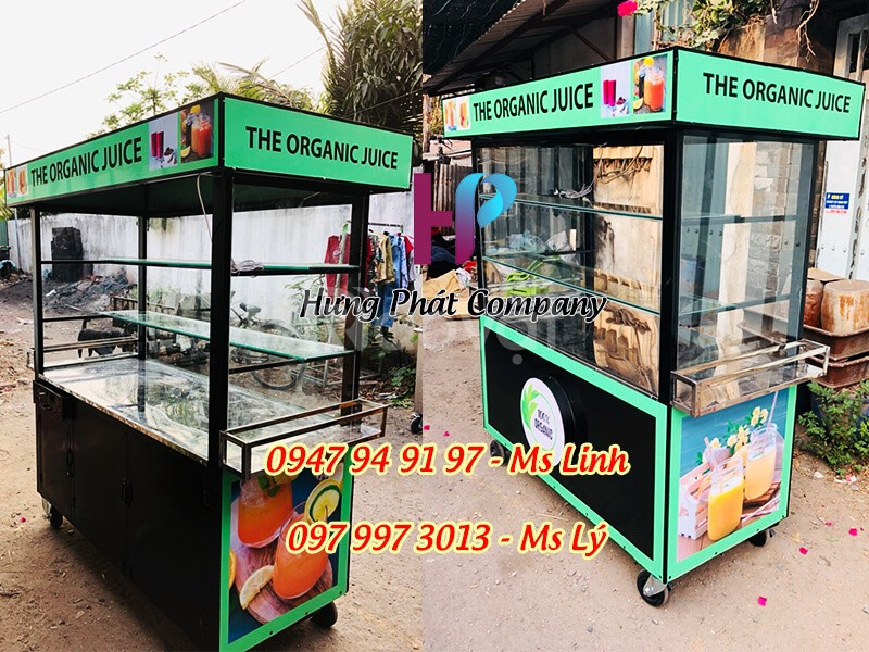 Xe bán sinh tố, nước ép 100% nguyên liệu sạch xuất hiện ở Sài Gòn