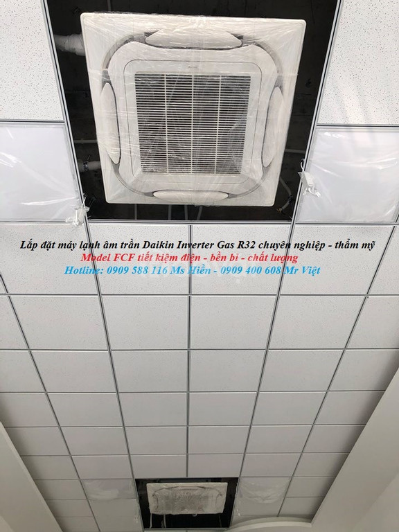 Phân phối hãng giá rẻ máy lạnh âm trần Daikin Inverter Gas R32 cao cấp