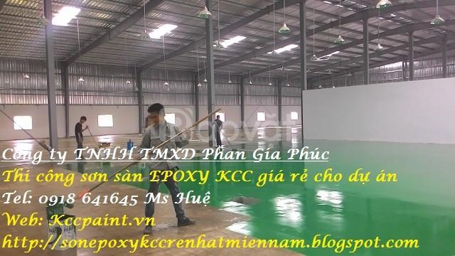 Sơn Epoxy kháng axit-thi công sơn nền kháng axit ET5500 Epoxy kcc