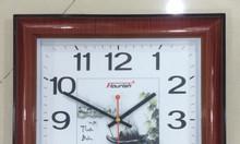 Làm đồng hồ treo tường quảng cáo, đồng hồ in logo theo yêu cầu hcm