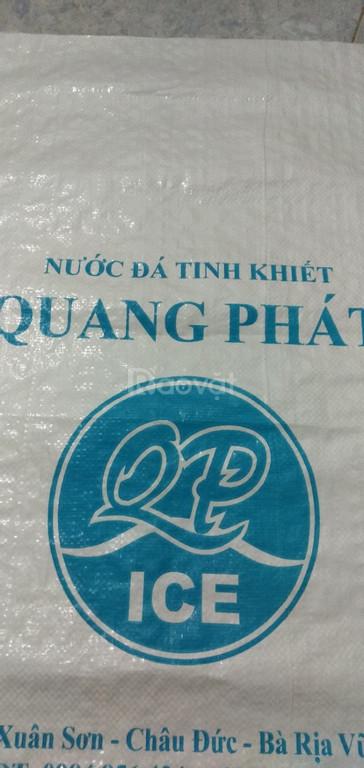 Bao PP dệt đựng 20kg nước đá