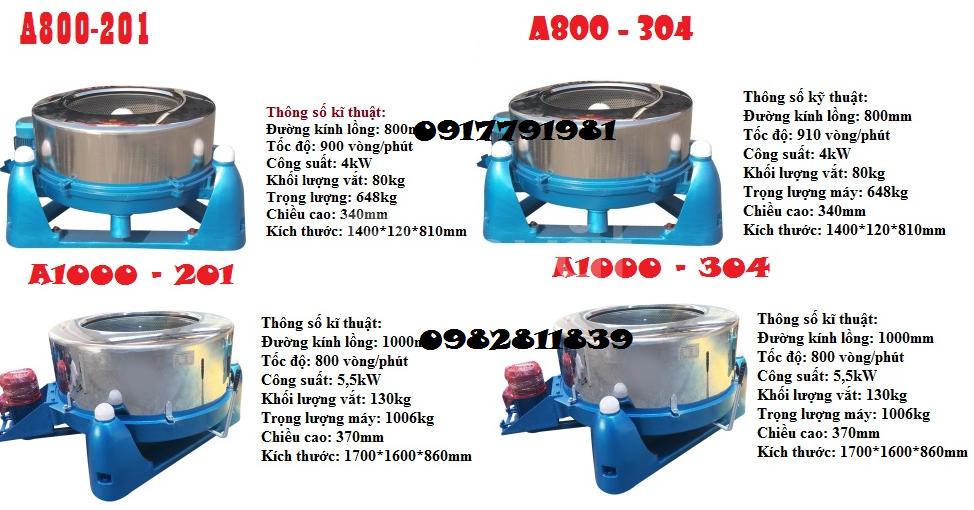 Máy vắt li tâm công nghiệp 25-220kg hàng công ty giá rẻ