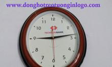 Xưởng đồng hồ treo tường oval in logo ngân hàng