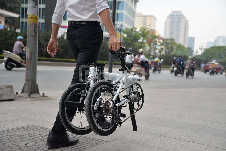 Xe đạp gấp gọn bỏ cốp ô tô