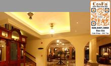Ốp lát nội thất cùng đá marble vàng kem